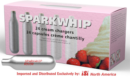 Sparkwhip Cream Chargers by iSi - 10 Boxes of 24